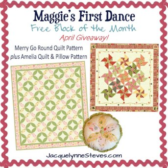 Giveaway for April-Maggies First Dance Free BOM
