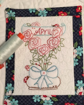 "April's ""A year in the Garden"" Mini quilt"