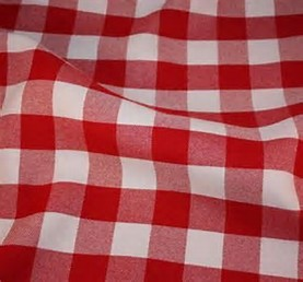 checkerd tablecloth